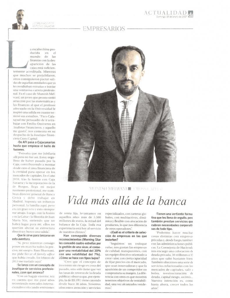 """Diario de Avisos entrevista a nuestro Director General en su sección dominical """"Empresarios"""""""